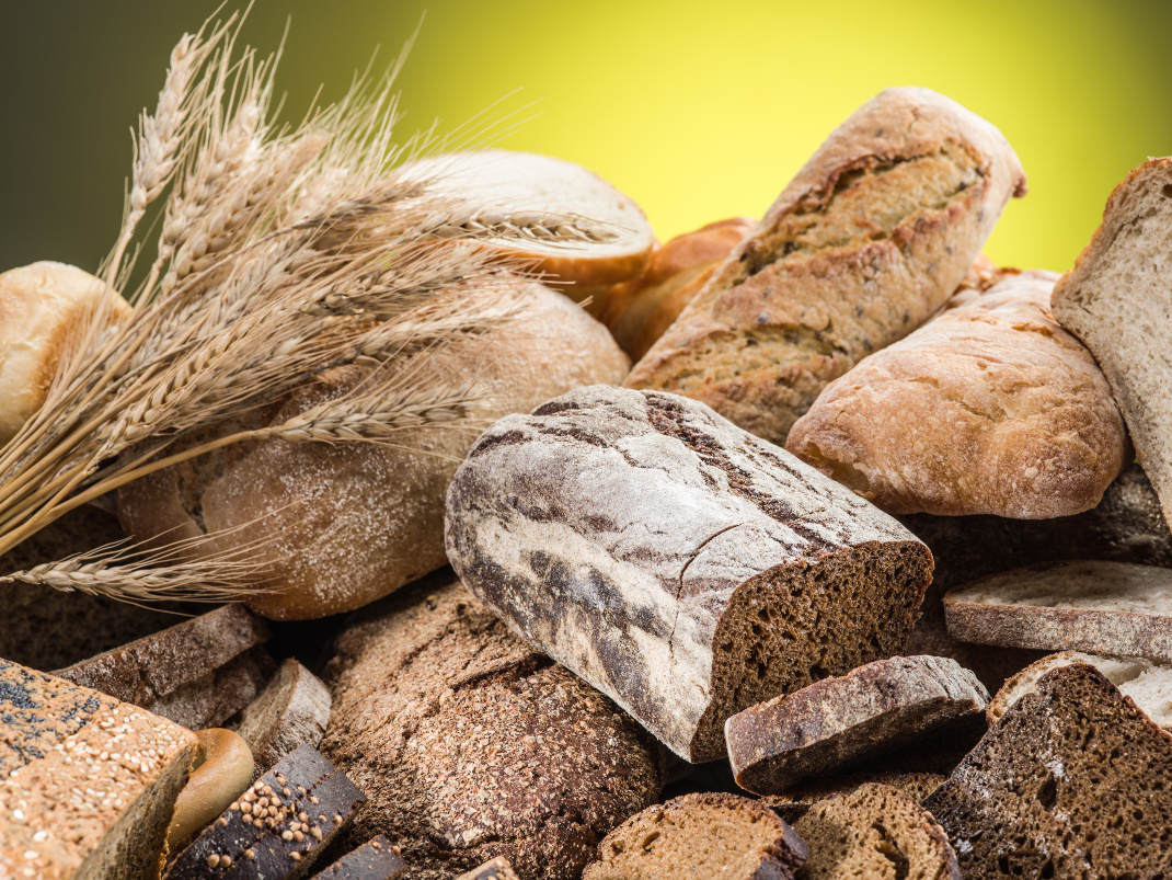 Different types of bread. Food background.